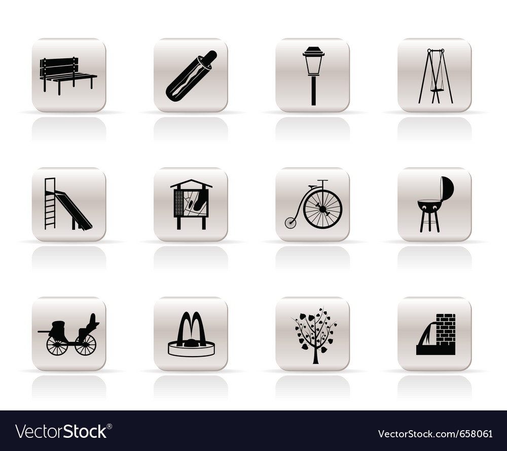 Park objects and signs icon vector   Price: 1 Credit (USD $1)