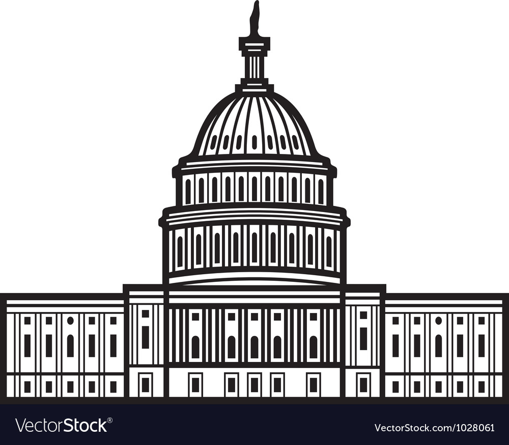 United states capitol vector | Price: 1 Credit (USD $1)
