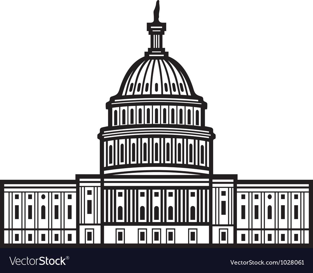 United states capitol vector | Price: 1 Credit (USD $1)