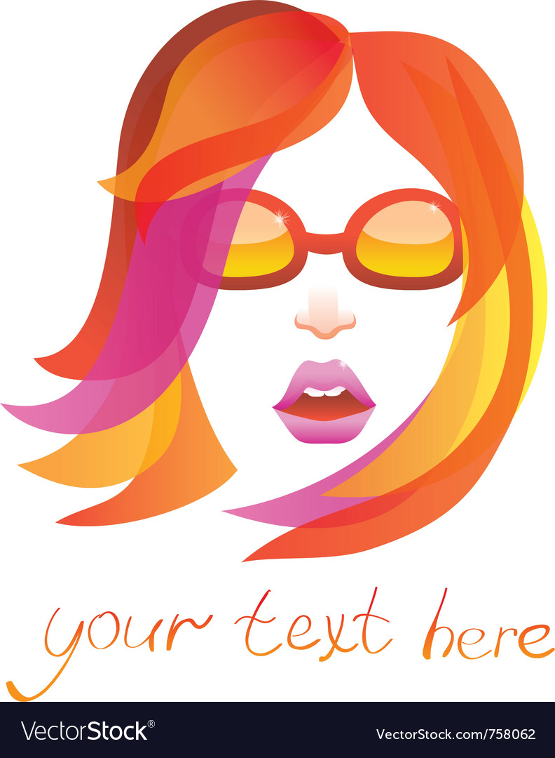 Beauty logo - pretty woman - vector | Price: 1 Credit (USD $1)