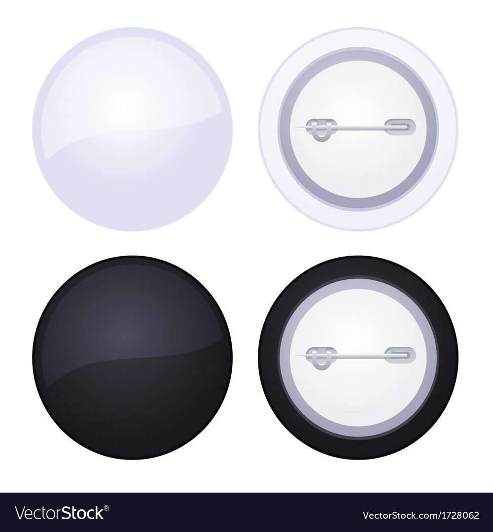 Blank button badge isolated on white vector | Price: 1 Credit (USD $1)