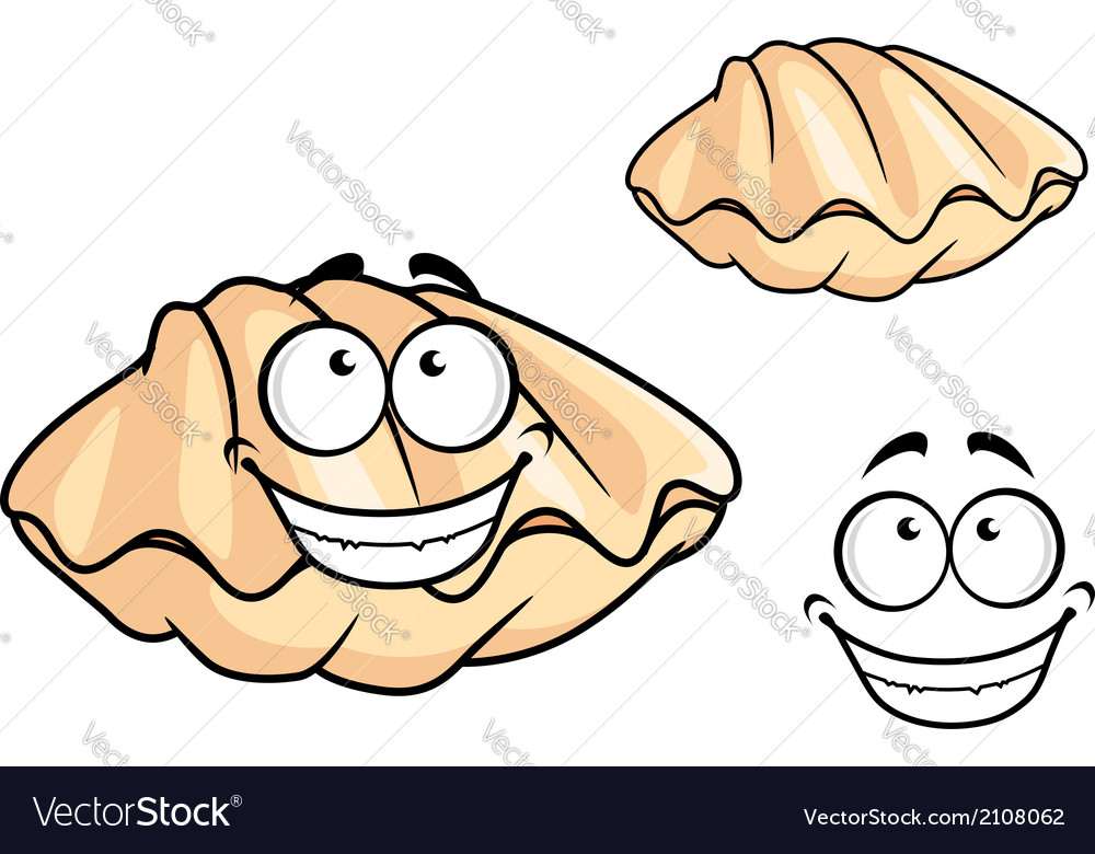 Cartoon clam shell or musse vector | Price: 1 Credit (USD $1)