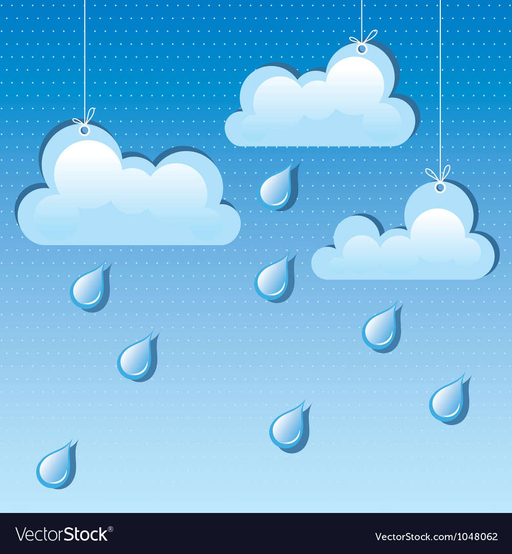 Cloud and rain drops vector | Price: 1 Credit (USD $1)