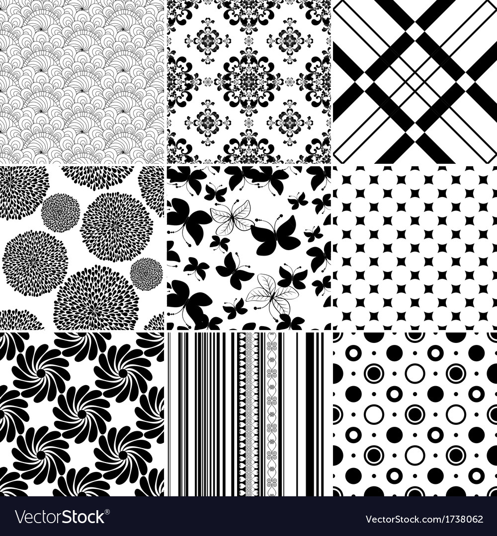 Collection seamless patterns vector | Price: 1 Credit (USD $1)