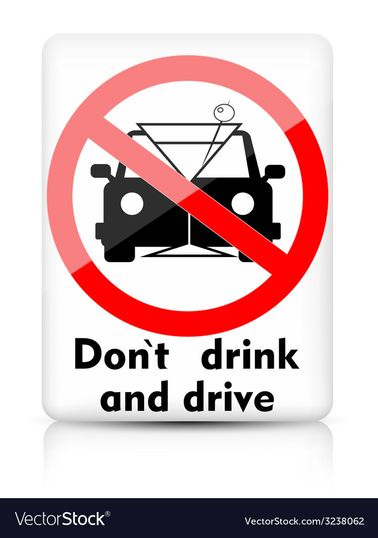 Do not drink and drive vector | Price: 1 Credit (USD $1)
