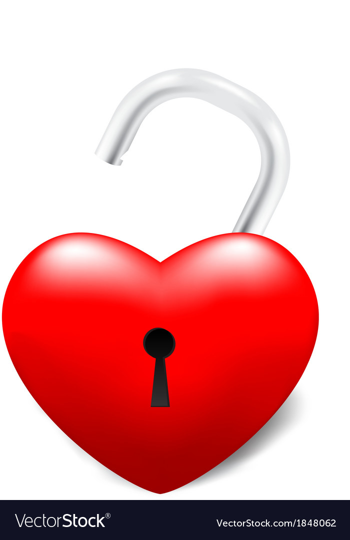 Grossy unlocked heart vector | Price: 1 Credit (USD $1)
