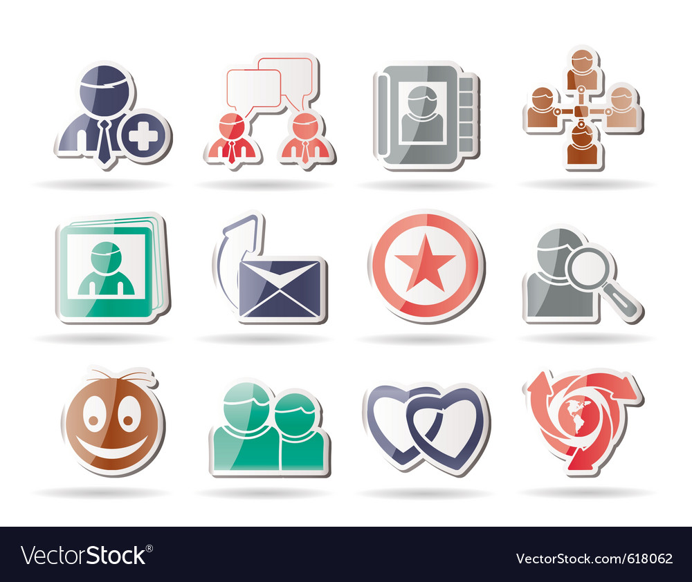 Internet community and social network icons vector | Price: 1 Credit (USD $1)