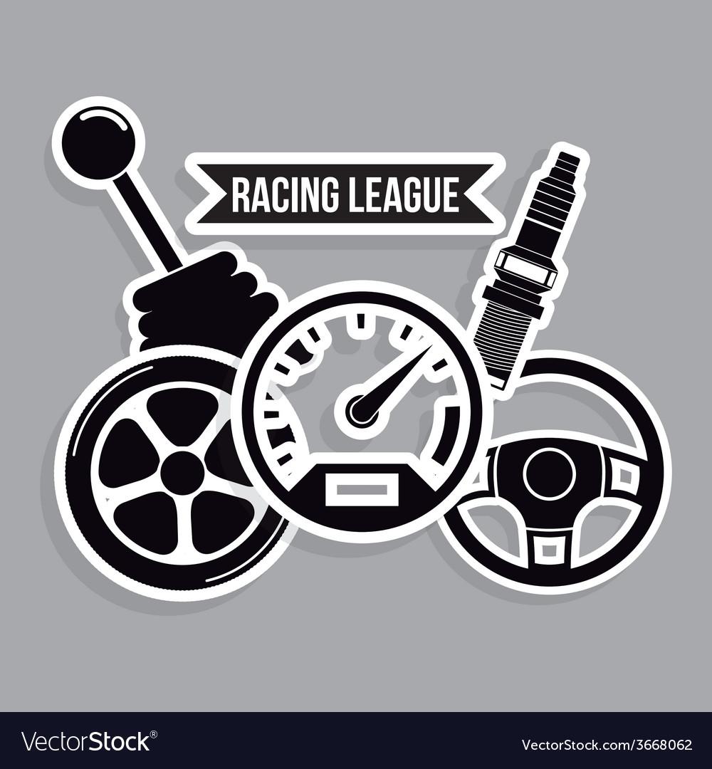 Racing design vector | Price: 1 Credit (USD $1)