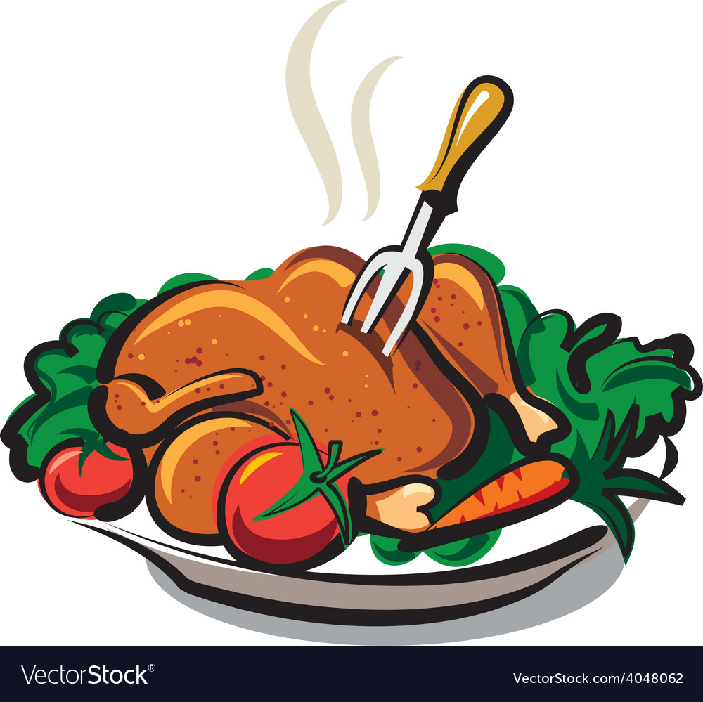 Roasted chicken vector | Price: 1 Credit (USD $1)