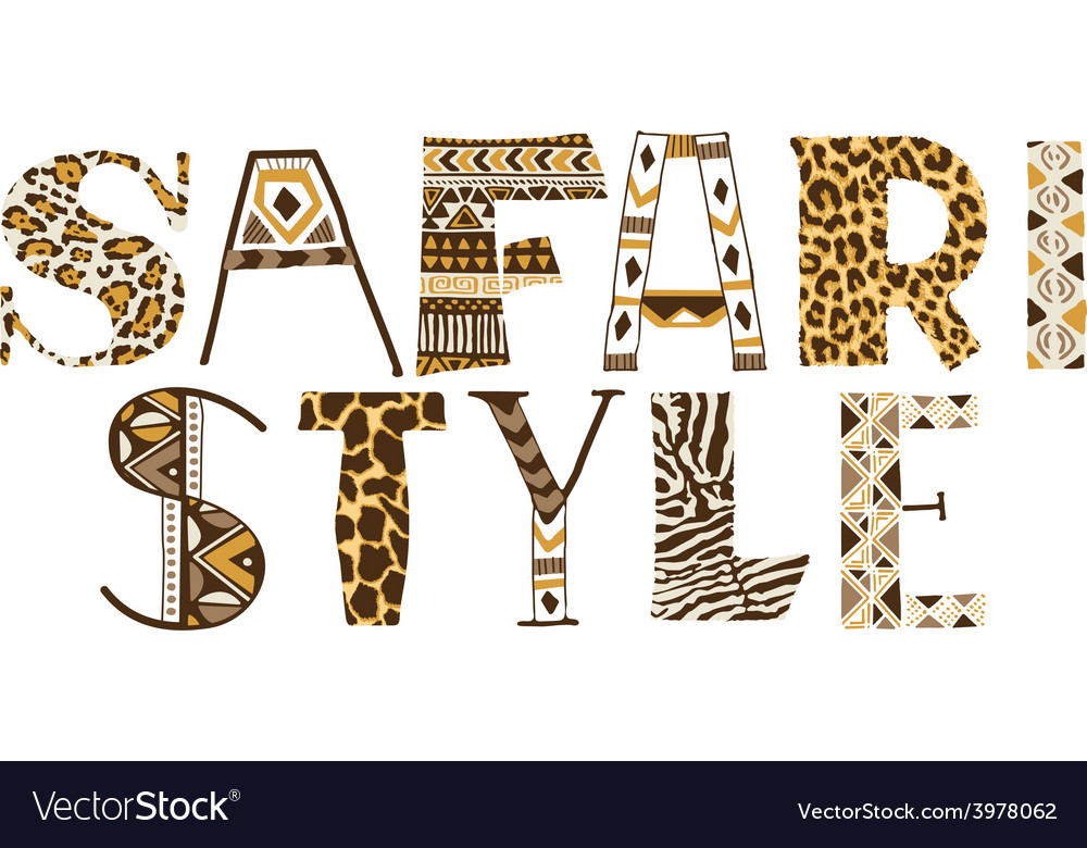Safari style vector | Price: 1 Credit (USD $1)