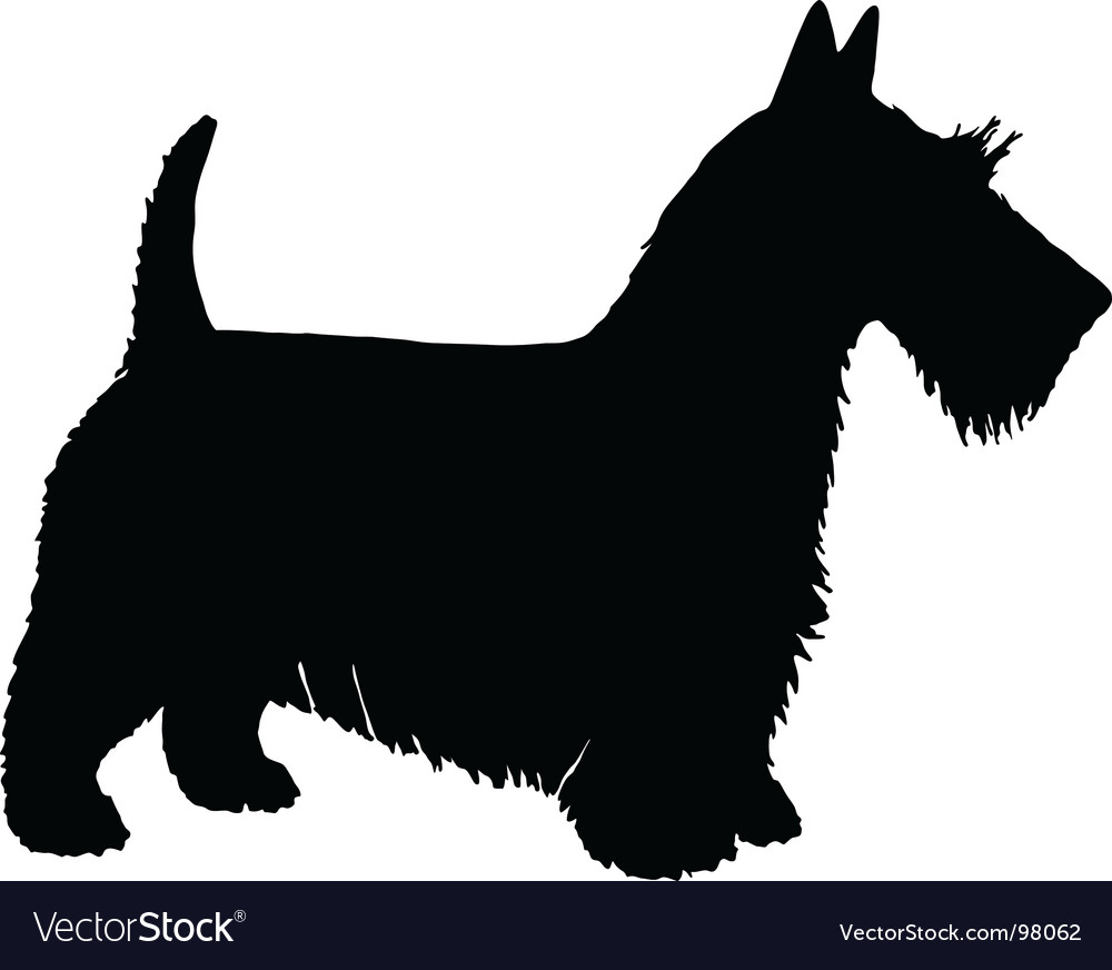Scottish terrier silhouette vector | Price: 1 Credit (USD $1)