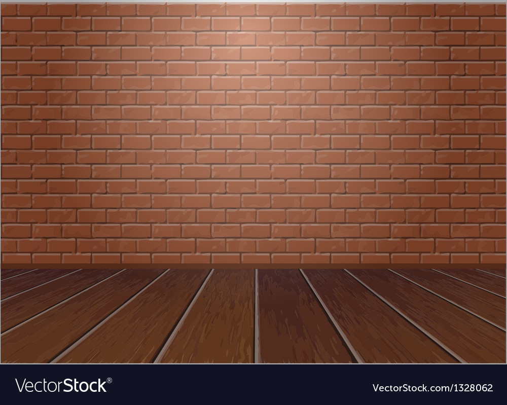 Wooden floor and brick wall vector | Price: 1 Credit (USD $1)