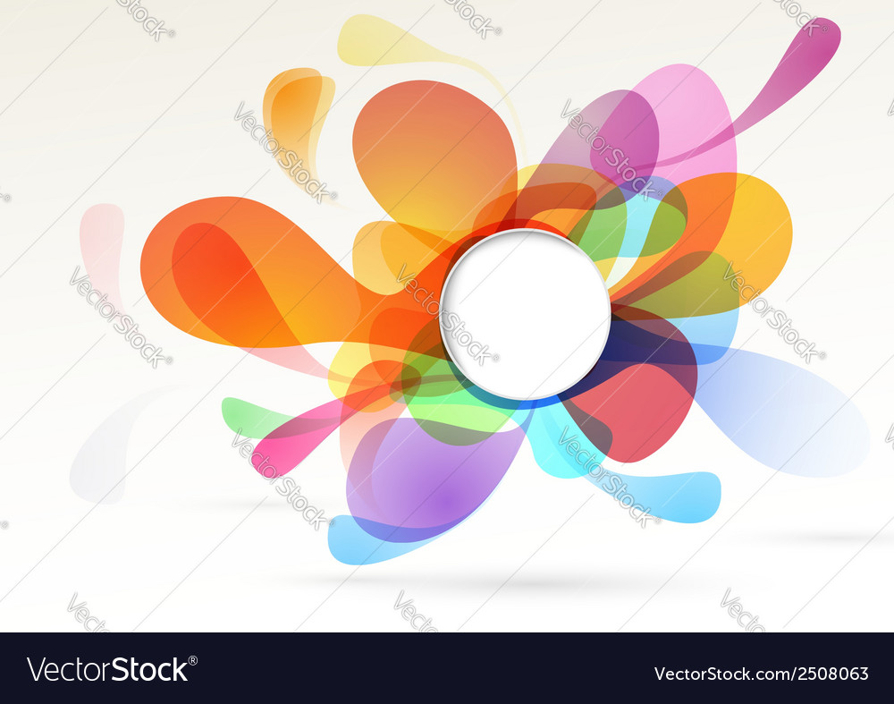 Bright colorful abstract design element vector | Price: 1 Credit (USD $1)