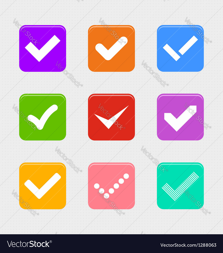 Confirm symbol set vector | Price: 1 Credit (USD $1)