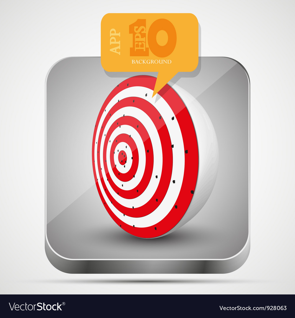 Dart app icon vector | Price: 1 Credit (USD $1)