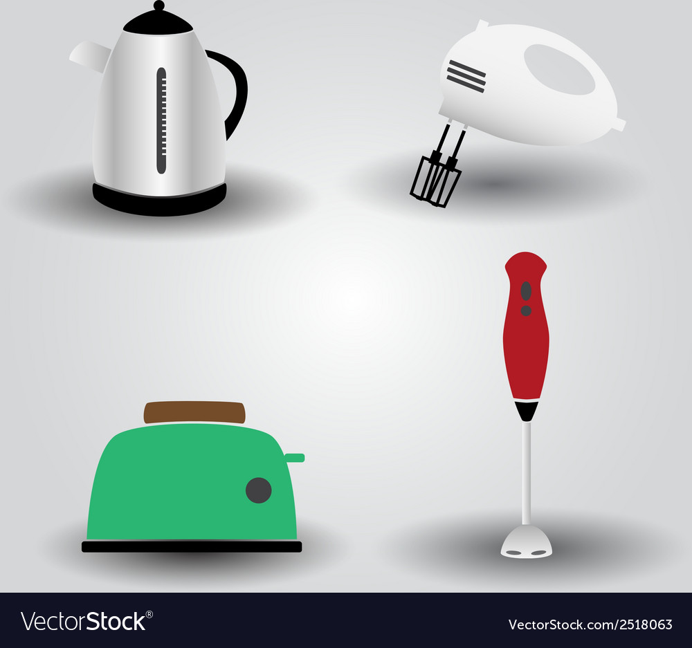 Home kitchen electrical appliances eps10 vector | Price: 1 Credit (USD $1)