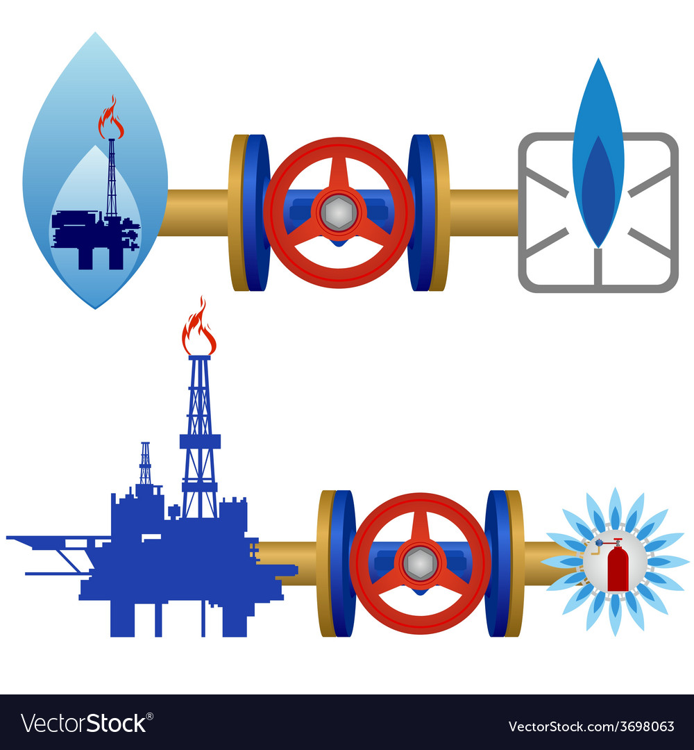 Natural gas industry vector | Price: 1 Credit (USD $1)