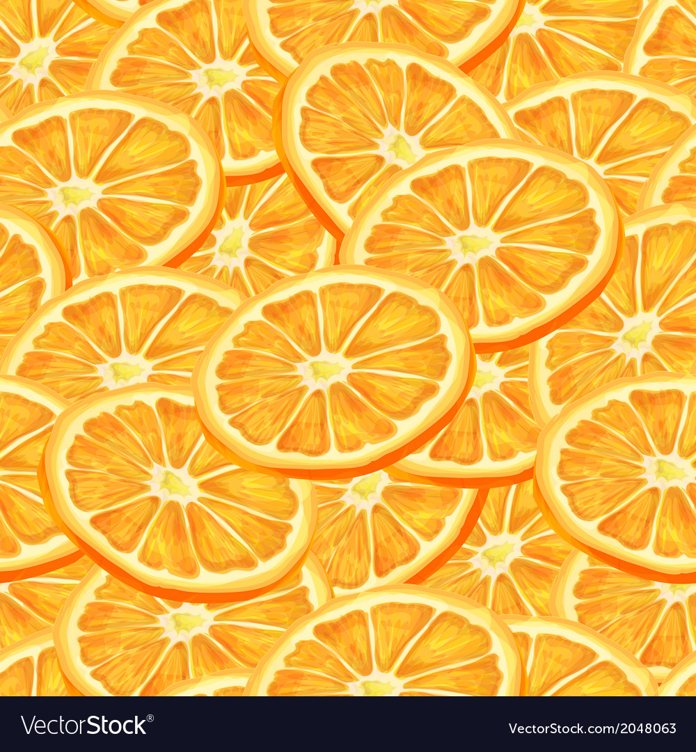 Sliced orange seamless background vector | Price: 1 Credit (USD $1)