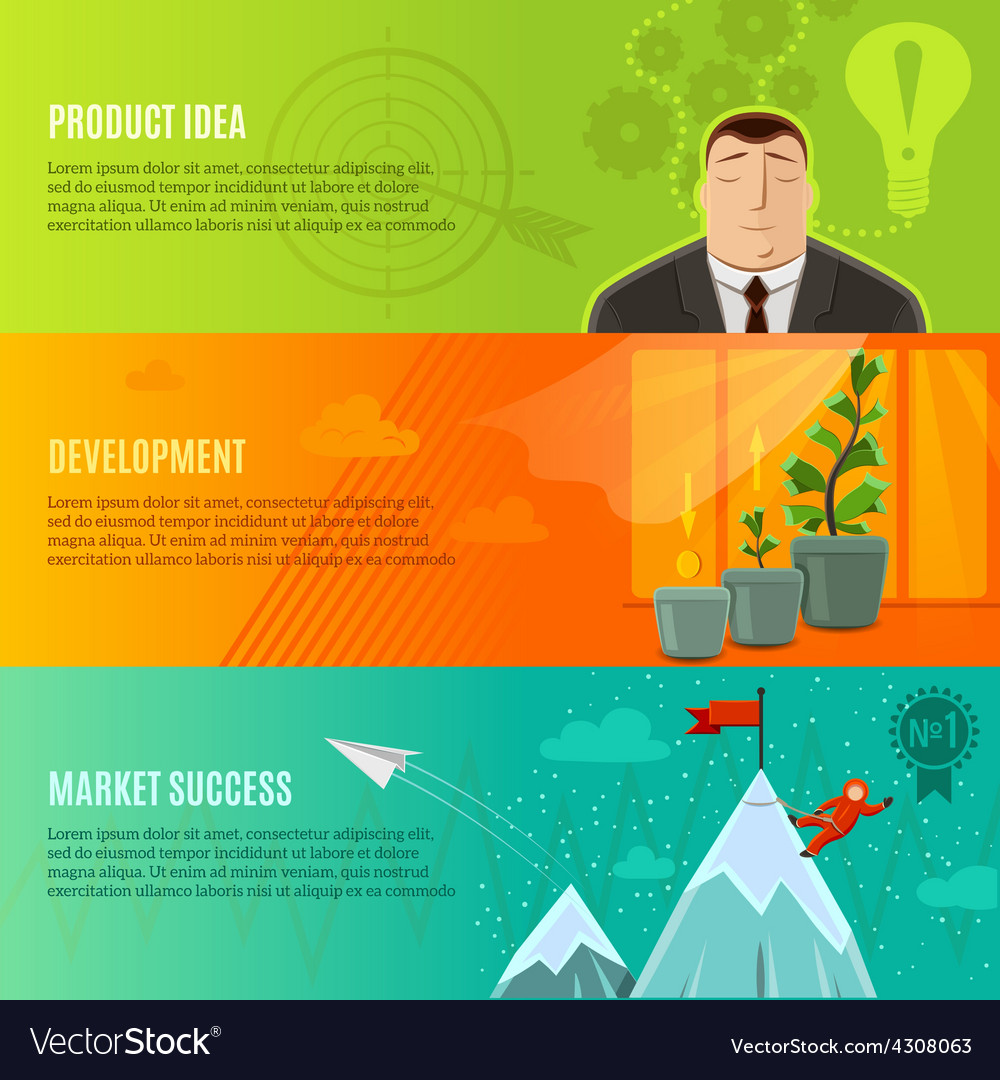 Startup banner set vector | Price: 1 Credit (USD $1)