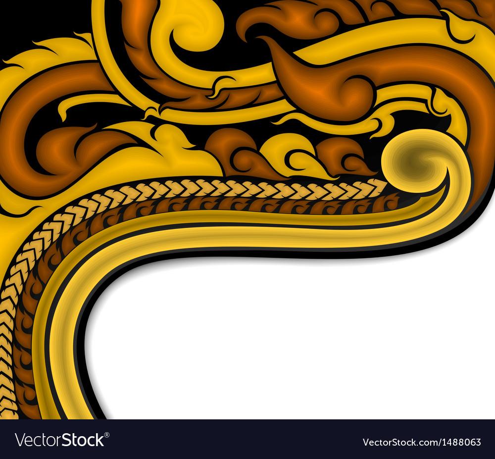 Thai art background vector | Price: 1 Credit (USD $1)