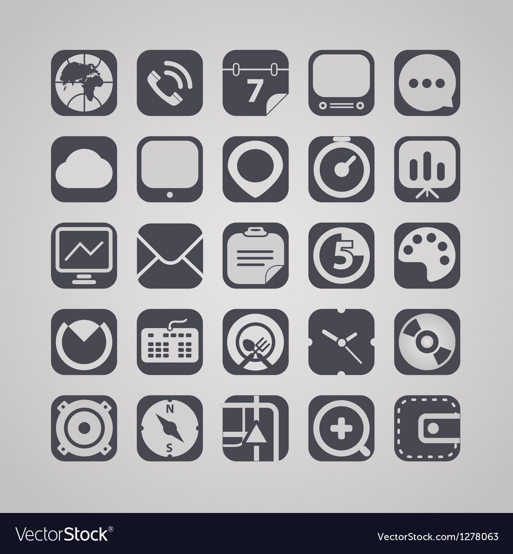 Web graphic interface icons collection vector | Price: 1 Credit (USD $1)