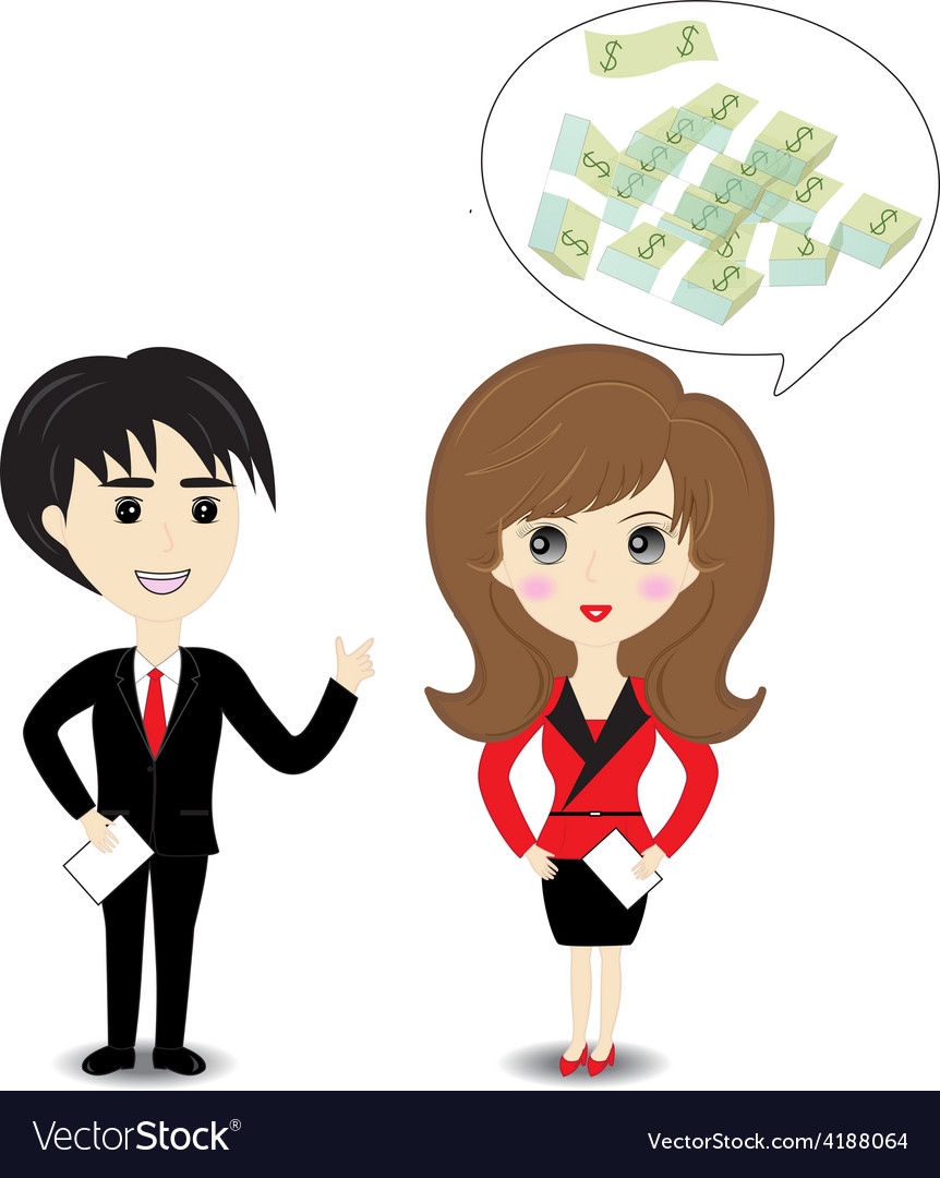 Business man and woman on white background vector | Price: 1 Credit (USD $1)
