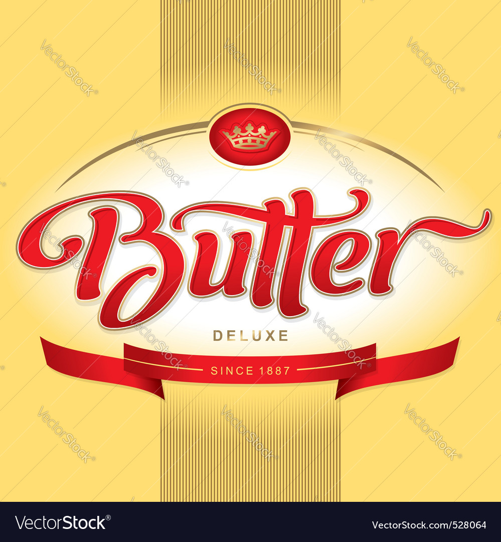 Butter packaging design vector | Price: 1 Credit (USD $1)