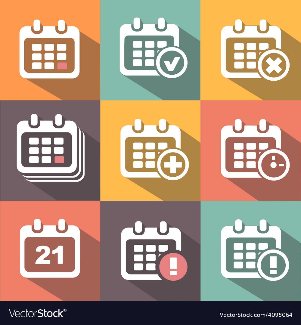 Calendar icons vector | Price: 1 Credit (USD $1)