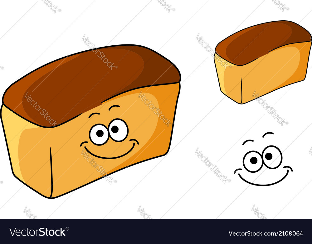 Fresh happy loaf of white bread vector | Price: 1 Credit (USD $1)