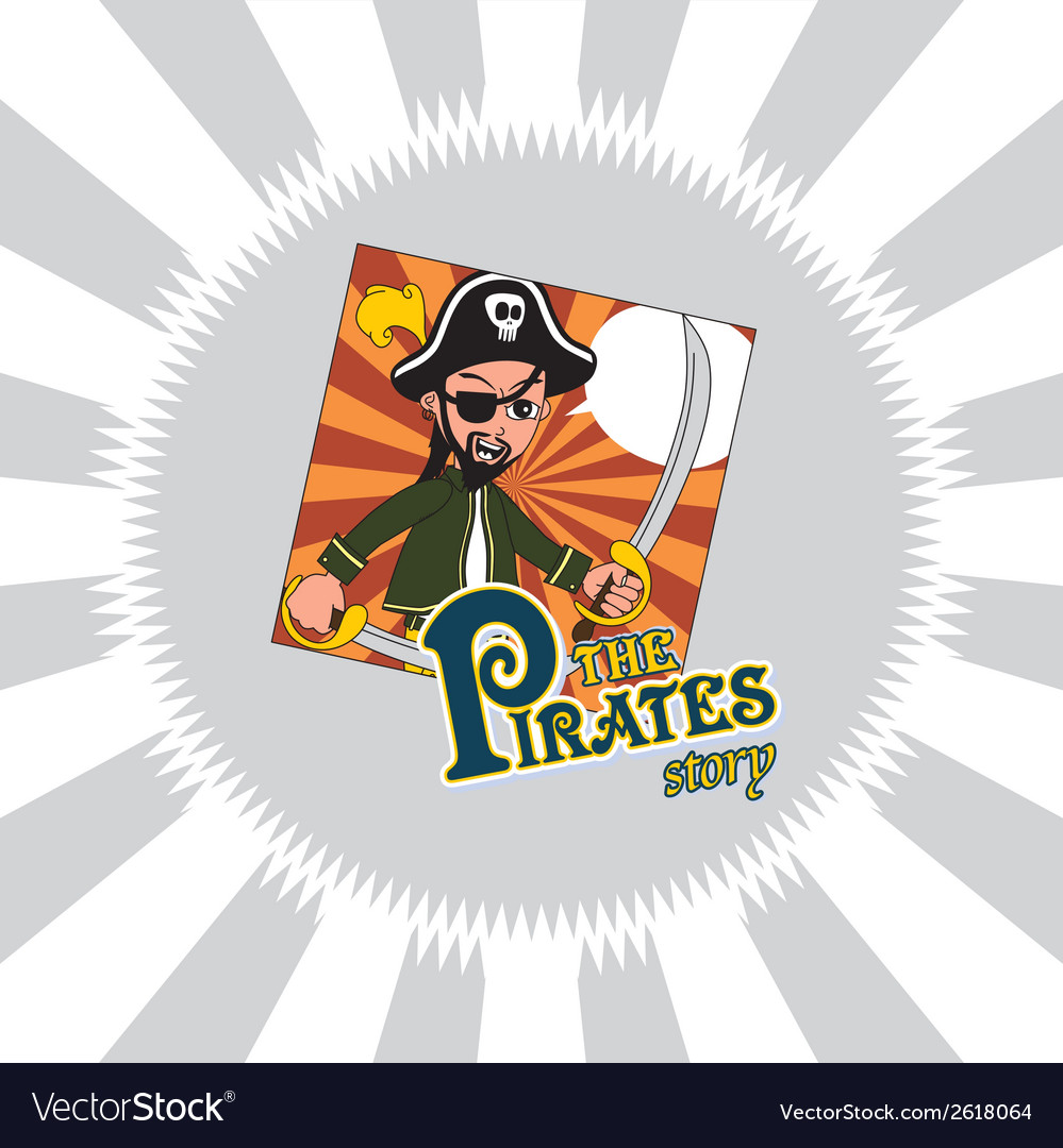 Hipster pirate design vector   Price: 1 Credit (USD $1)