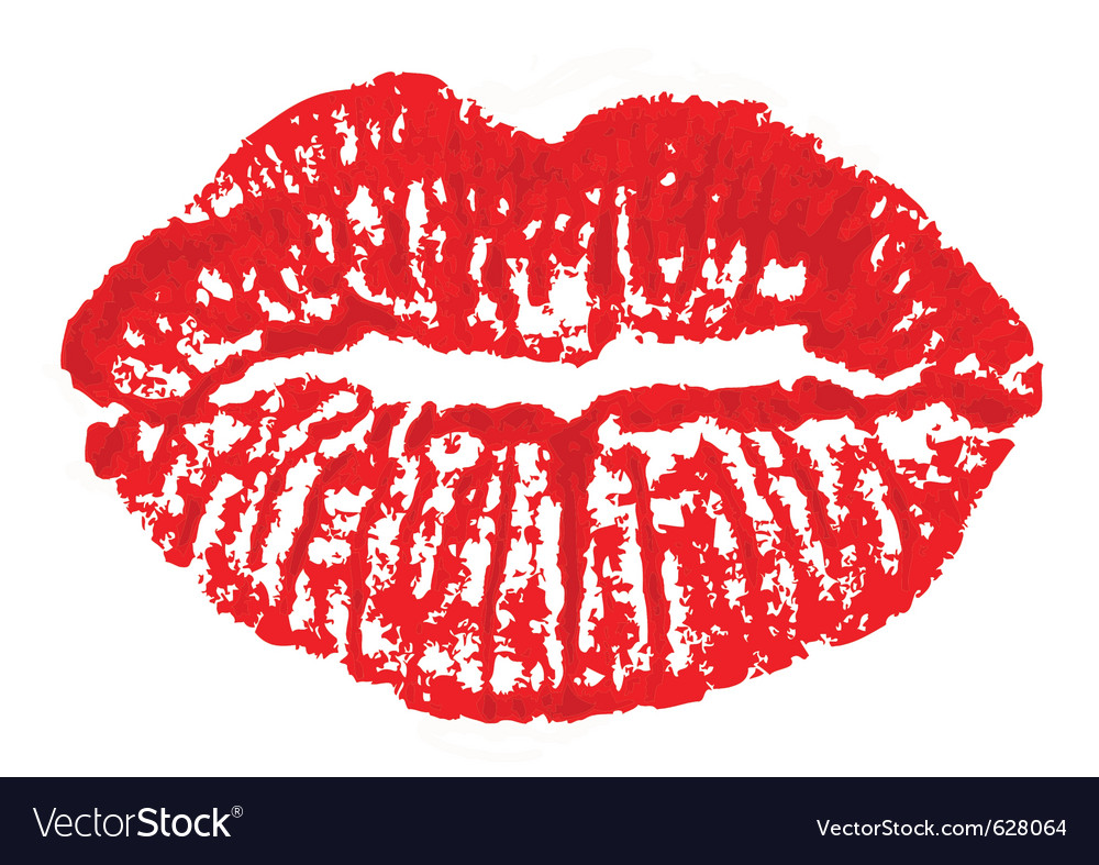 Lips mark vector | Price: 1 Credit (USD $1)