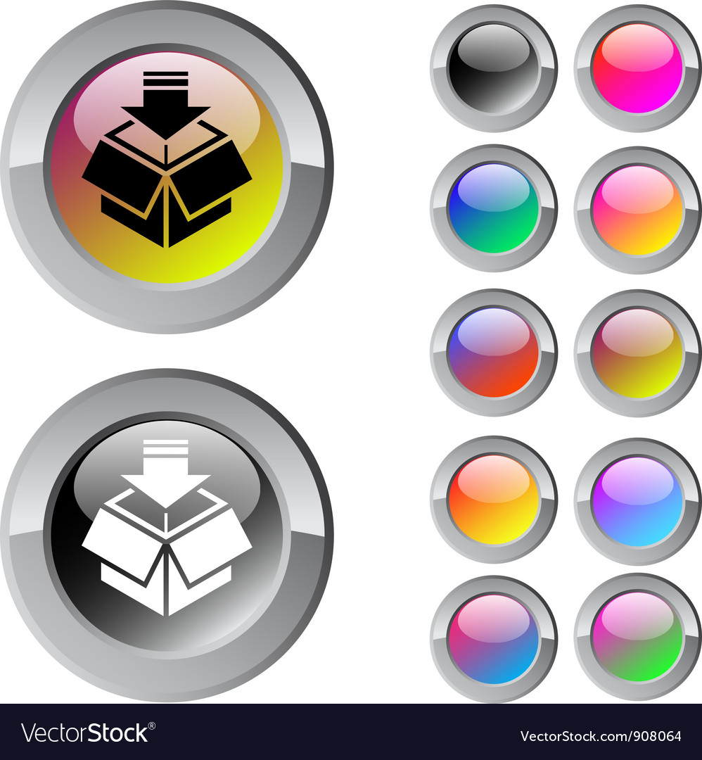 Package multicolor round button vector | Price: 1 Credit (USD $1)