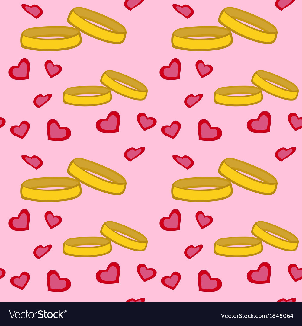 Rings hearts pattern vector | Price: 1 Credit (USD $1)