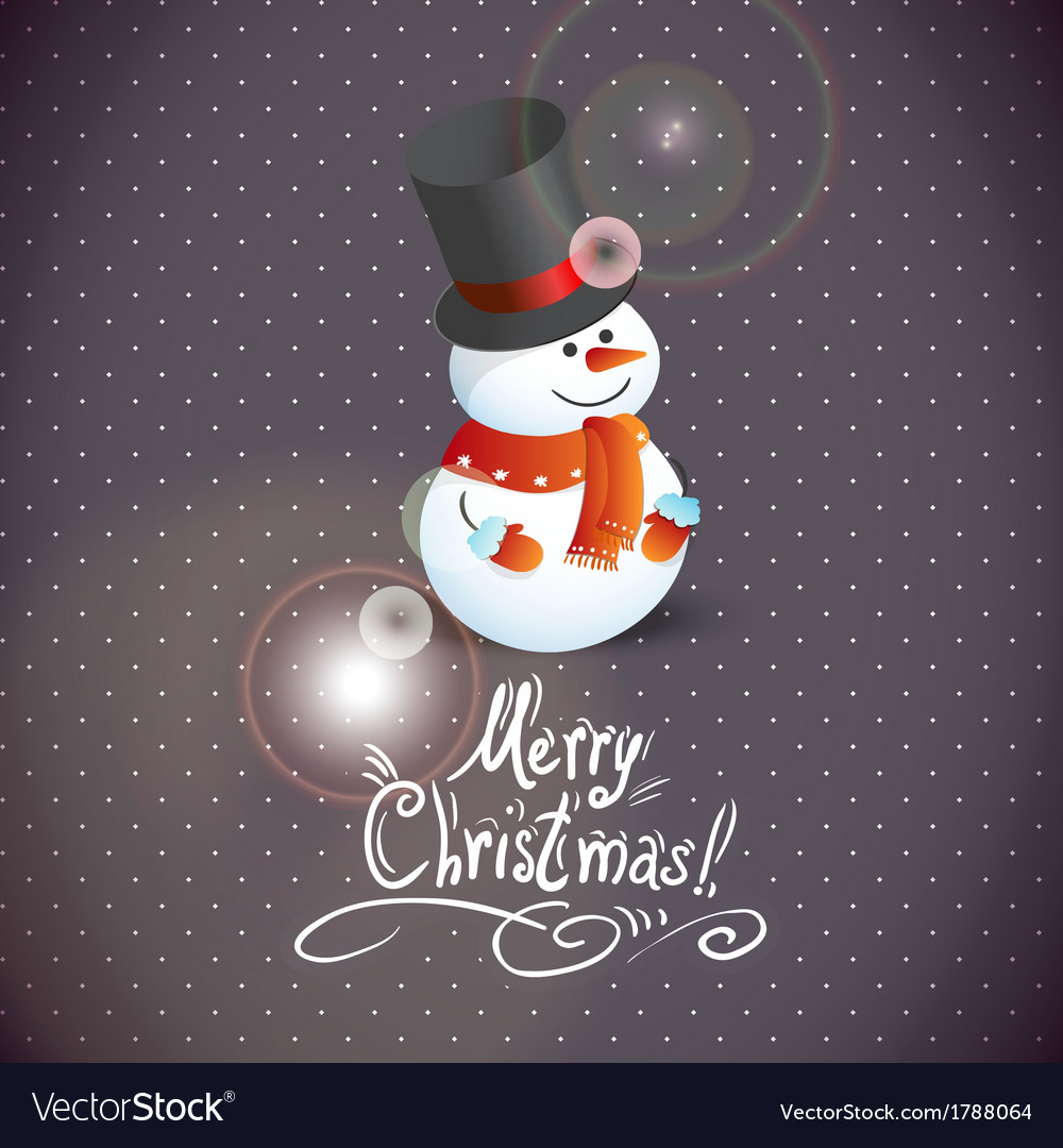 Snowman for christmas design vector | Price: 1 Credit (USD $1)