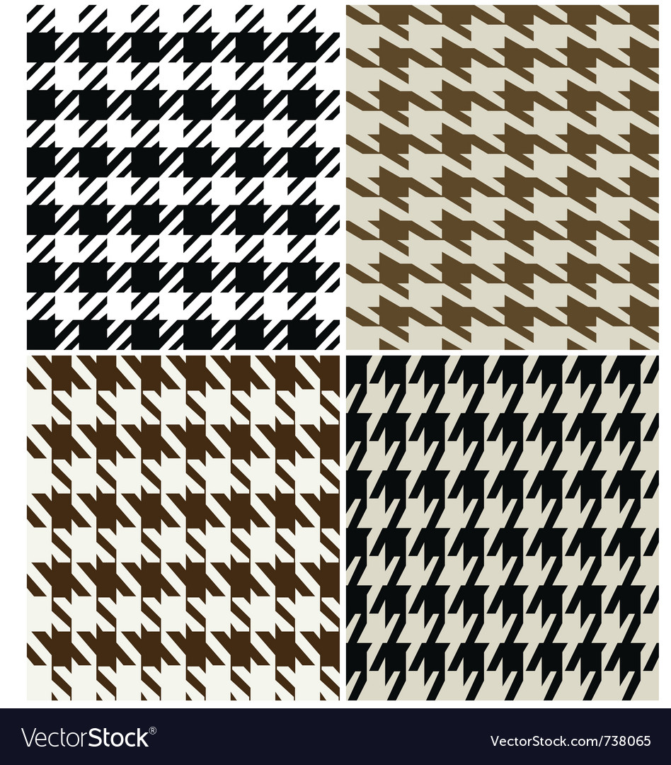Fashion abstract hounds tooth pattern vector | Price: 1 Credit (USD $1)