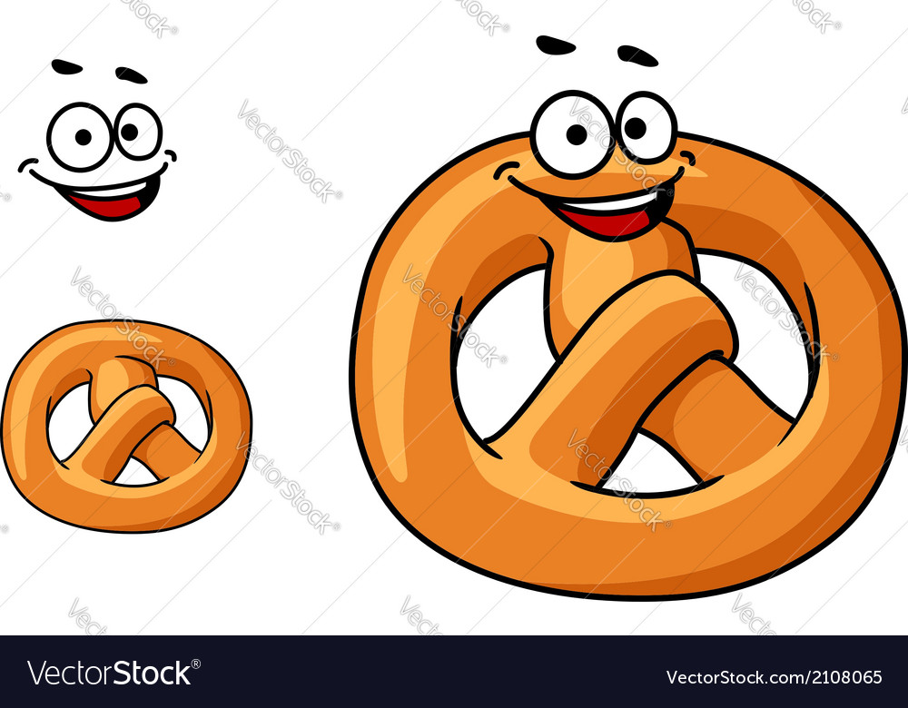 Funny crispy pretzel vector | Price: 1 Credit (USD $1)