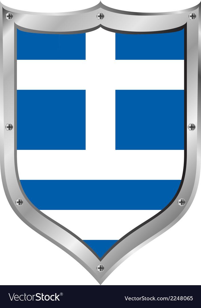 Greece flag button vector | Price: 1 Credit (USD $1)