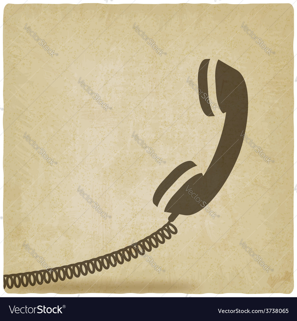 Handset symbol old background vector | Price: 1 Credit (USD $1)