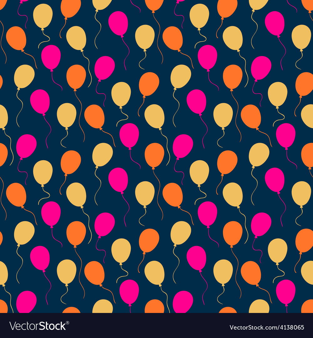 Holiday pattern with balloons vector | Price: 1 Credit (USD $1)