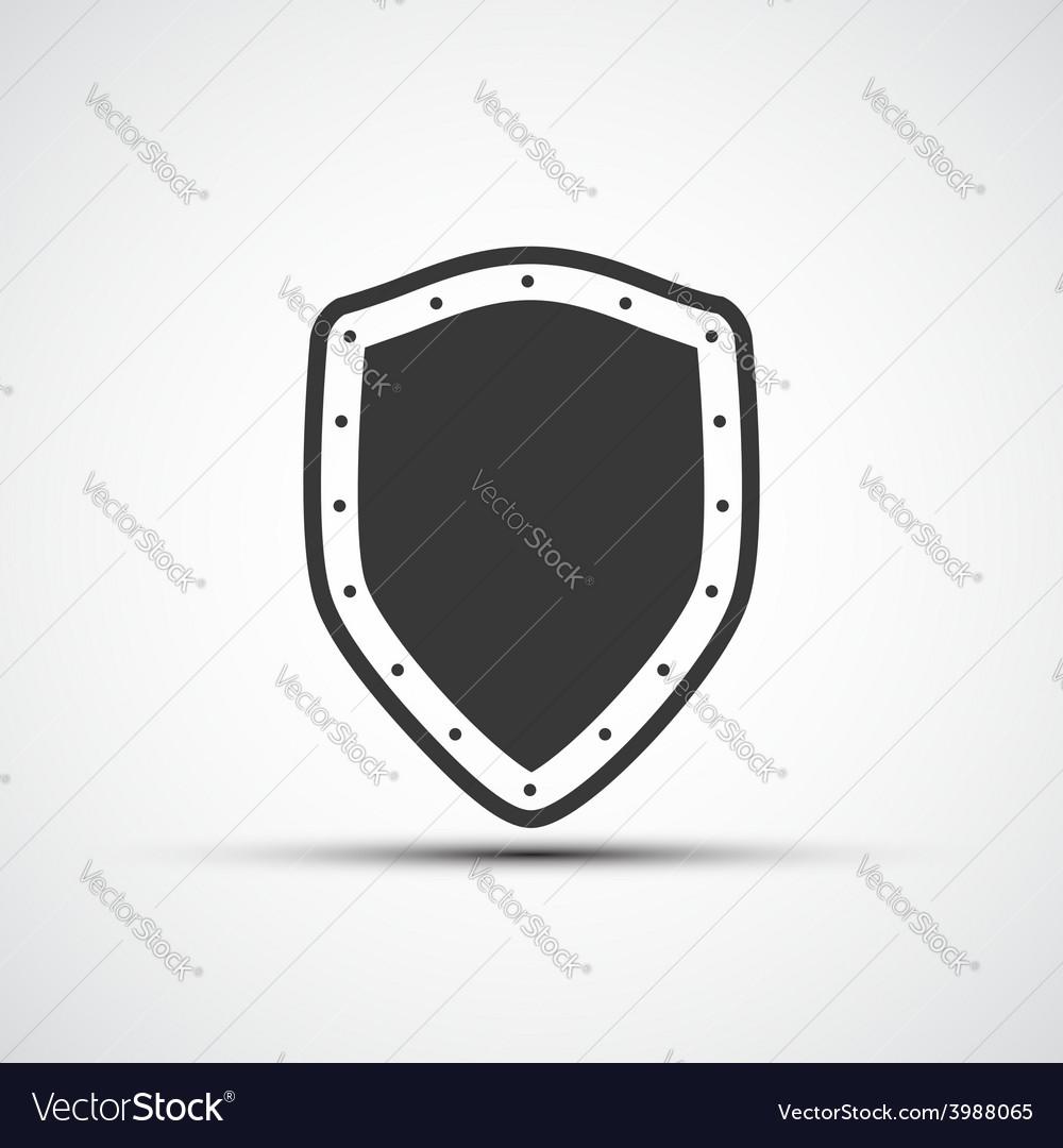 Icon metal shield vector | Price: 1 Credit (USD $1)