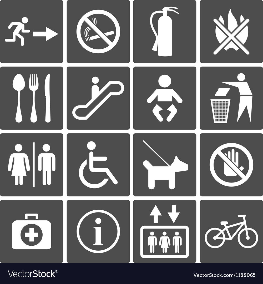 International service signs vector | Price: 1 Credit (USD $1)