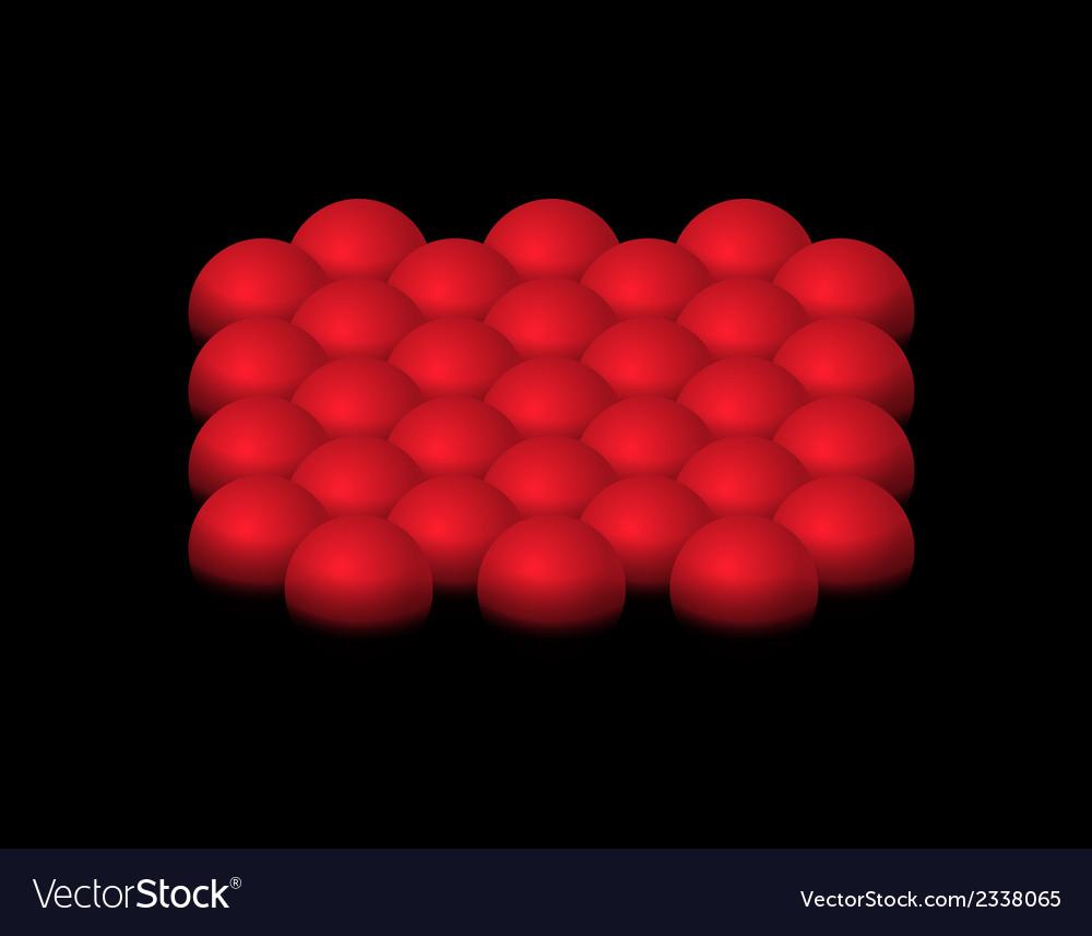Red halfspheres vector