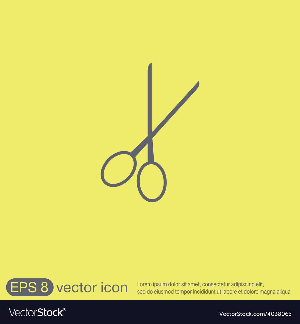 Scissors barbershop symbol of hair and beauty vector   Price: 1 Credit (USD $1)