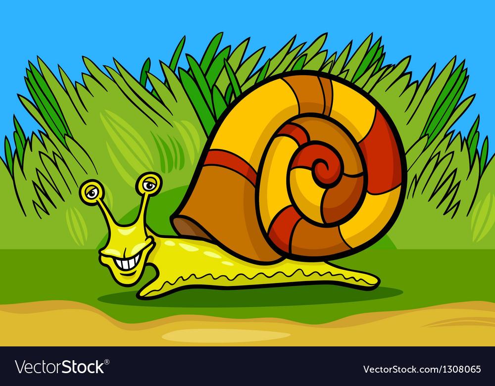 Snail mollusk cartoon vector | Price: 1 Credit (USD $1)