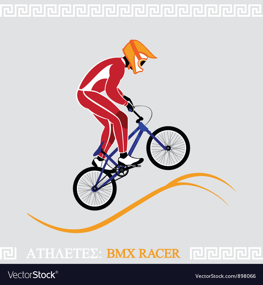 Athlete bmx racer vector | Price: 3 Credit (USD $3)