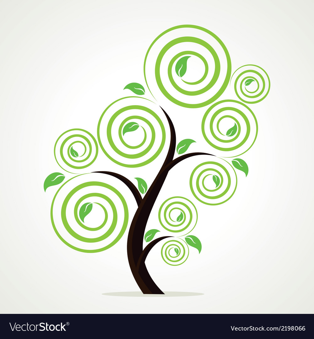 Creative green tree vector | Price: 1 Credit (USD $1)