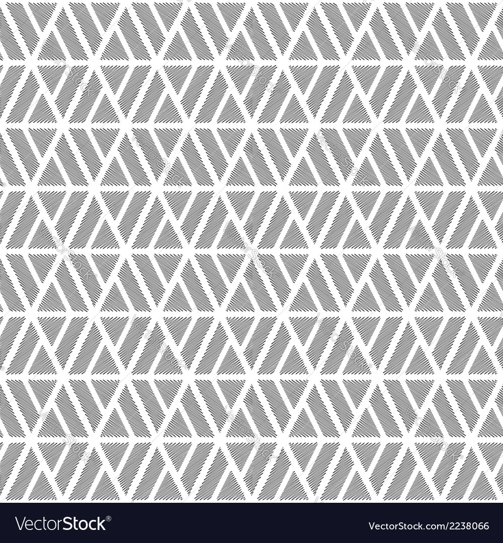 Design seamless monochrome diamond pattern vector | Price: 1 Credit (USD $1)