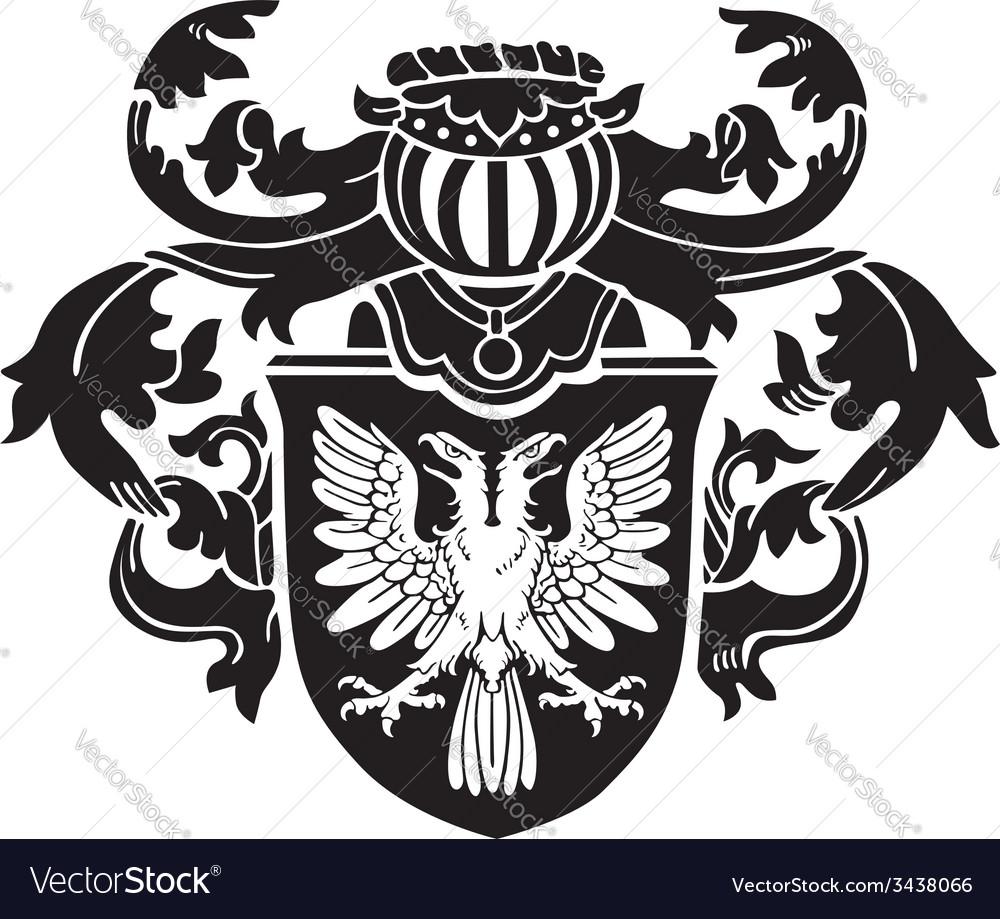 Heraldic silhouette no1 vector   Price: 1 Credit (USD $1)