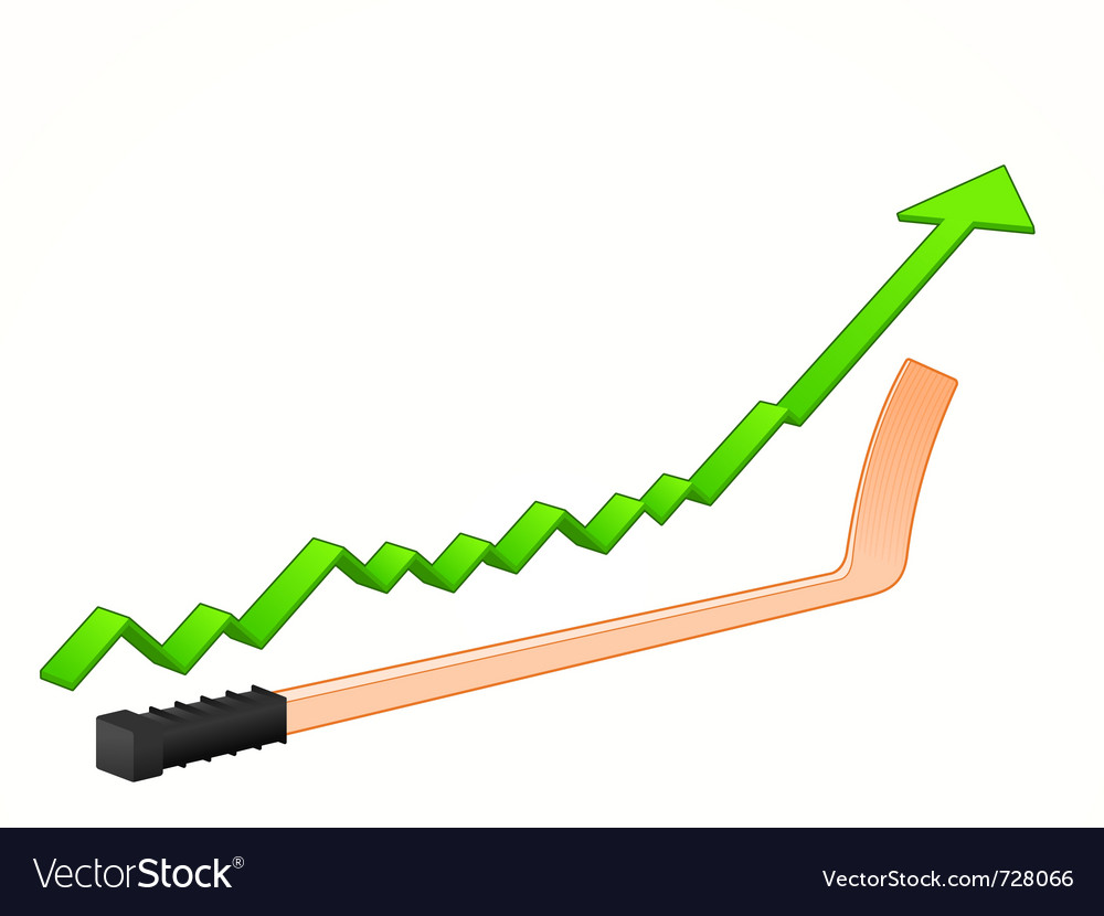 Hockey stick growth vector | Price: 1 Credit (USD $1)