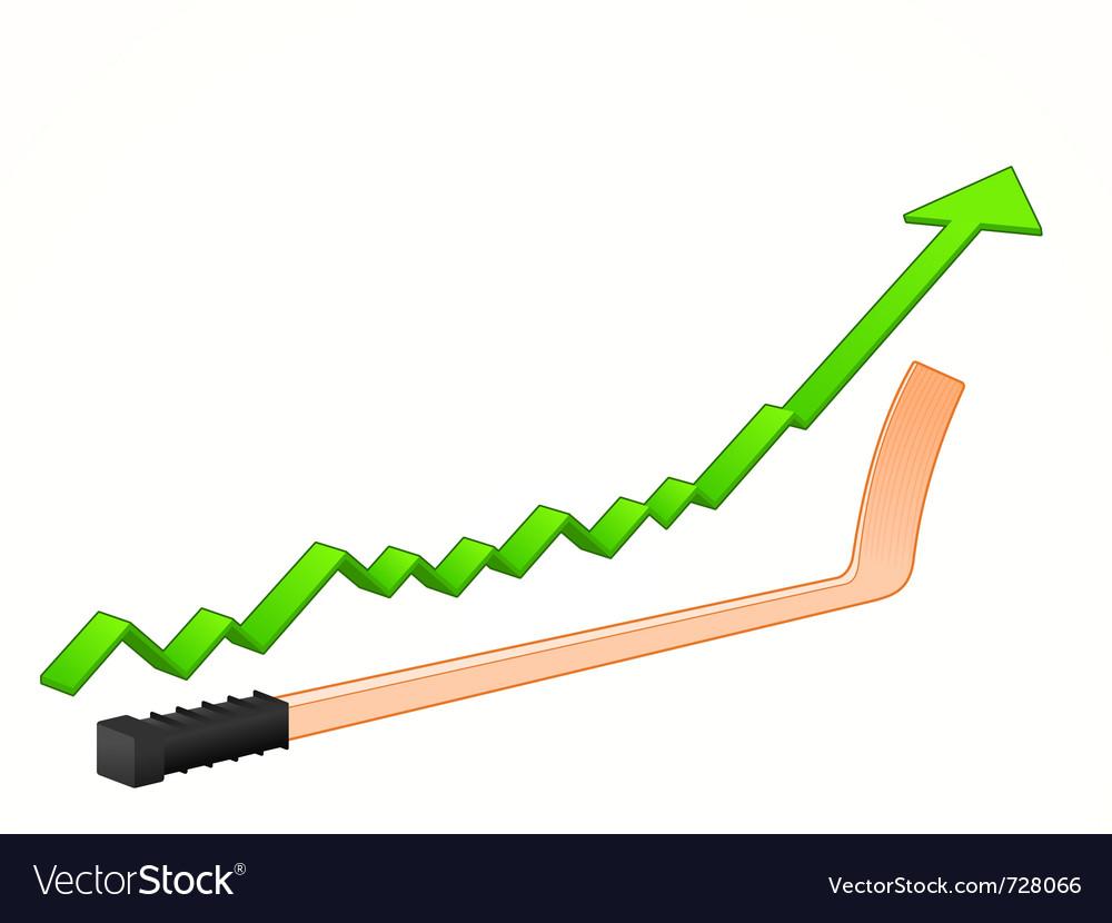 Hockey stick growth vector   Price: 1 Credit (USD $1)